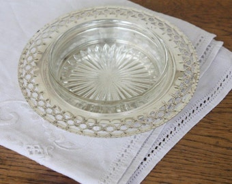 SALE - Silver Plate Butter Dish with Glass Insert ~ 'Perfection EPNS A1' ~ Wedding High Tea