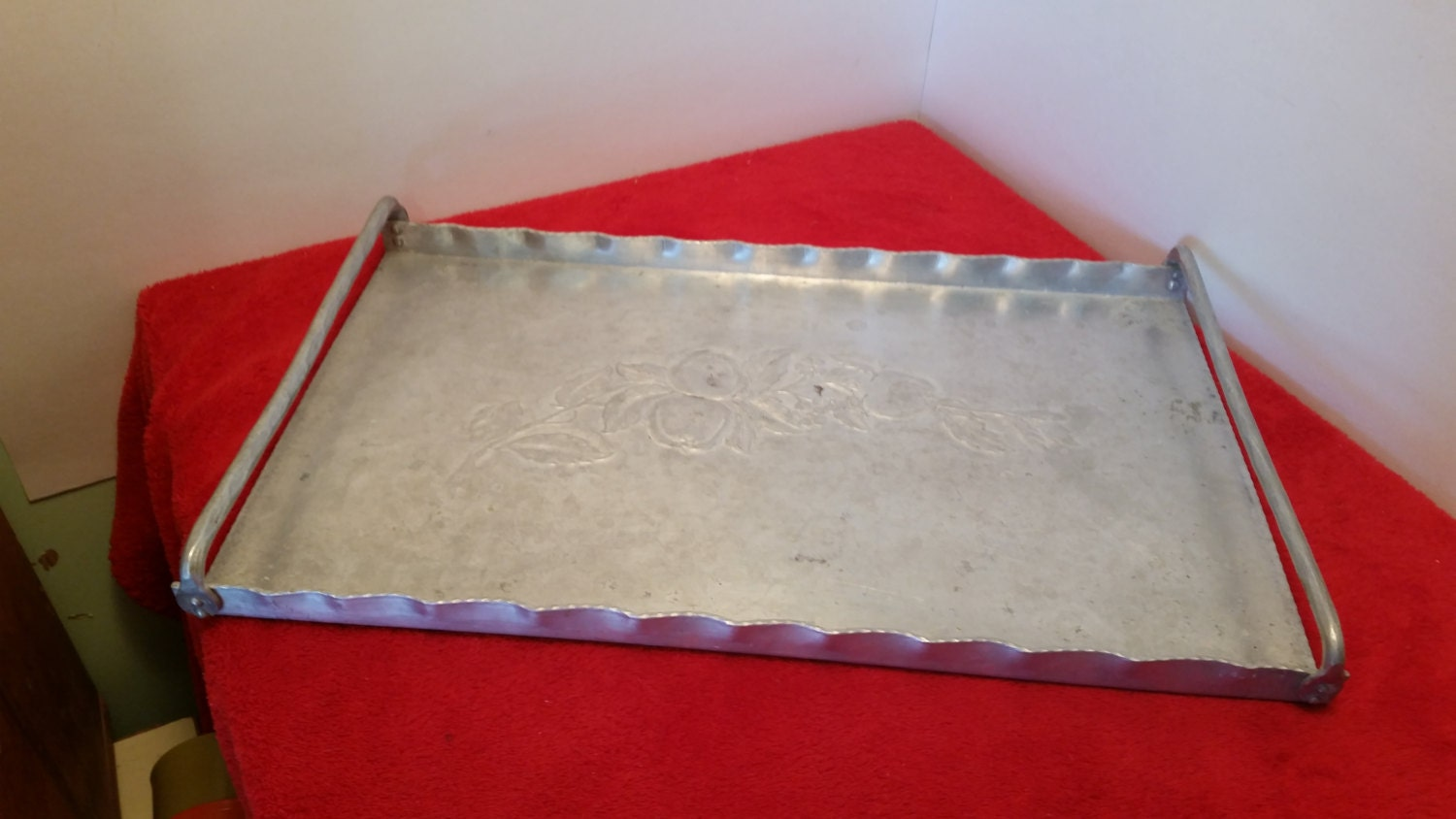 Vintage Serving Tray Hand Forged Everlast Metal