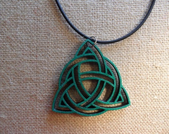 Celtic Knot - wood laser cut pendant/necklace