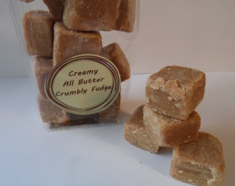 All Butter Crumbly Fudge - 100g to 300g Pack - Gifts, Treats, Favours