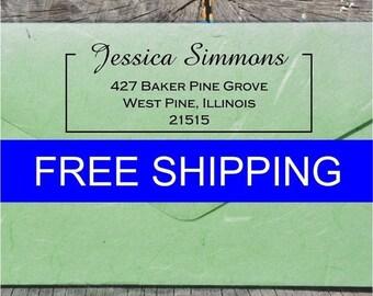 20% OFF NOW Return Address Label - Address Label - Custom Address Label Stamp - Personalized Address Label - FREE Shipping - (Dbj_251)