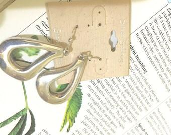 SSD Simon Sebbag sterling silver large open teardrop earrings. Nwt