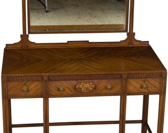 Mahogany Dressing Table Vanity with Mirror