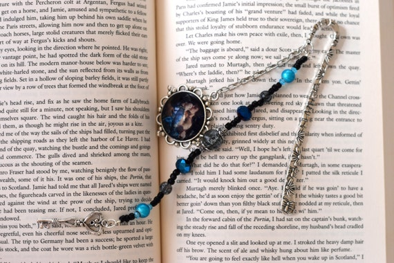 Outlander Inspired Season 2 Jamie and Claire Blue Bookmark