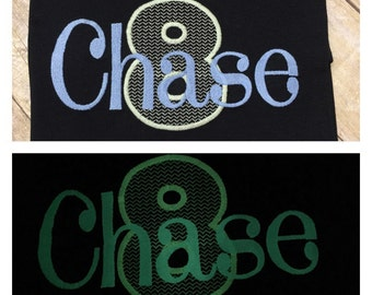 Glow in the dark name and or number shirt