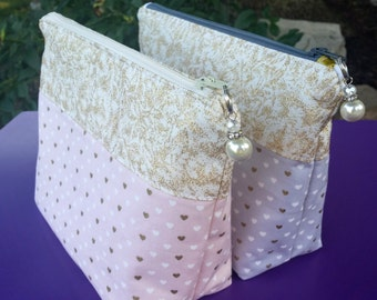 Heart pattern make-up bag