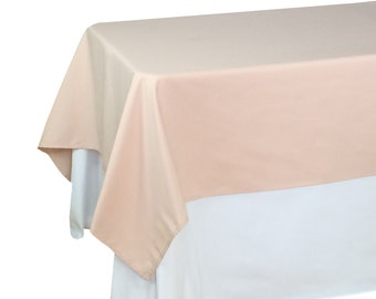 Charming Blush Tablecloths 60 X 126 Inches Rectangle, Rectangular Blush Table  Overlays | Blush Table Linens