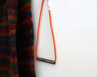 Minimal Bar Necklace - Simple Pendant Necklace - Horizontal Bar Necklace
