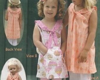 SALE Charmed Dress & DollDress Pattern - Olive Ann Designs - OAD92