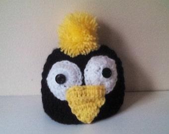 Crochet penguin hat, baby penguin hat, penguin hat, newborn penguin hat, ready to ship
