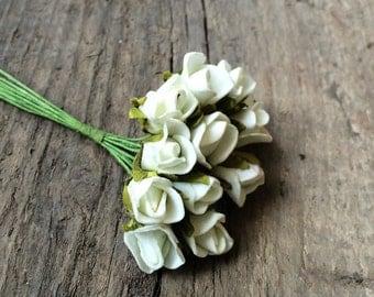 Miniature Roses, Miniature Flowers, White Flowers, White Roses, Small White Roses, Small White Flowers, Wedding Decor, Bouguet Flowers