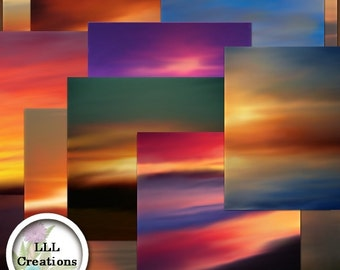 LLL Scrap Creations - Sunset Expressions Papers Plus - Digital Scrapbooking Kit