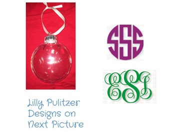 Lilly Pulitzer Monogrammed Ornament