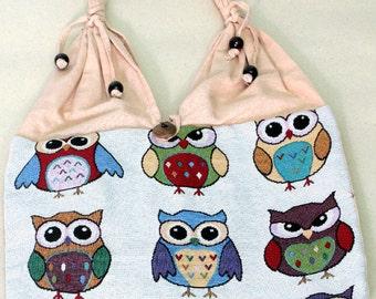 Shopping bag - owl - 4292