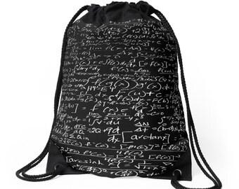 CALCULUS  Drawstring Bag Backpack Knapsack School Carryall