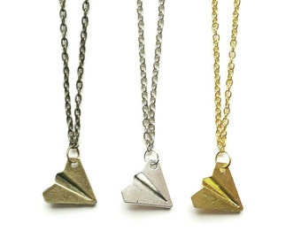 Paper Plane Necklace // Paper Plane Jewellery // Origimi Necklace // Travel Jewelry // Travel Gift // Wanderlust