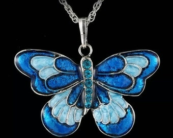 60% OFF Blue Butterfly Necklace