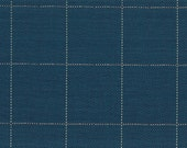 Copley Square Cobalt / Roth and Tompkins D2955 / Navy Blue White Windowpane Check Plaid