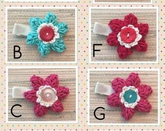 6 Petal Poof! Crochet Flower - Organic