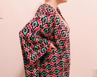 Multi-Geo Printed Kimono