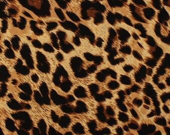 "Stretch Jersey Knit Cheetah Print Fabric By The Yard ""FDYX2J-4282"""