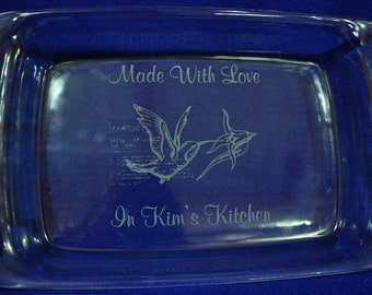 Mother's Day Gifts ~ Gifts For Mom ~Birthday For Mom ~ Engraved Baking Pan ~ Personalized Gift For Mom ~ Hummingbird Gift ~ Grandma Gift ~
