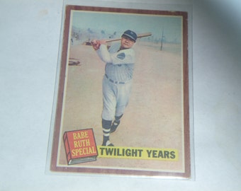 1962 Topps Vintage Babe Ruth #141