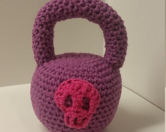 Baby Kettlebell Softie with skull