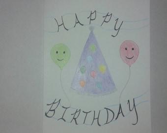 Handmade Cards, Happy Birthday, OOAK Card, OOAK Cards, Birthday Cards, Cards, Birthday Card, Greeting Card, Greeting Cards, Birthday