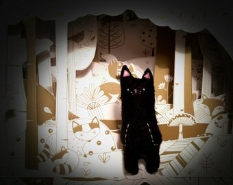 Tiny Black Cat Stuffed Animal