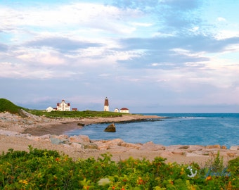 Point Judith Lighthouse ~ Narragansett, Rhode Island, Artwork, Coastal Decor, Lighthouses, Nautical, Beach Photography, New England