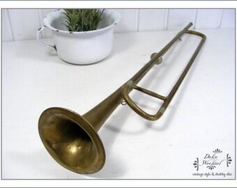 antique old german Fanfare / trumpet