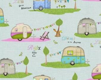 Studio E Camper in Blue - 1 Yard
