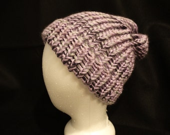 Slouchy Knit Hat - The Purple One