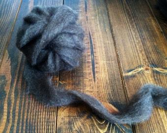4 oz. Shetland Roving - Warm Black