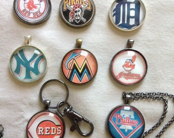 MLB Keychain or Necklace