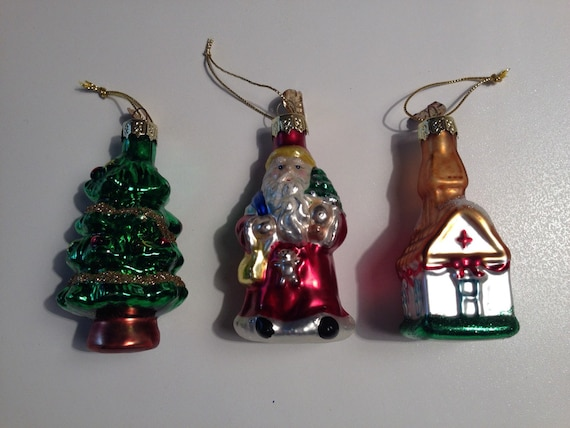 Clearance vintage glass santa claus christmas tree by for Christmas ornaments clearance