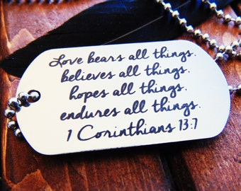 Actual Handwriting Dog Tag - Necklace or Keychain Option -  Signature Dog Tag - Easy Ordering- Laser Engraved