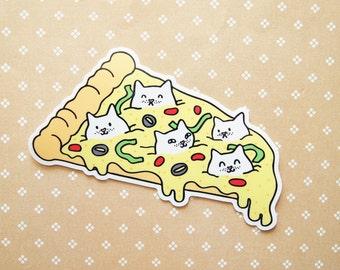 Pizza Cats Vinyl Sticker