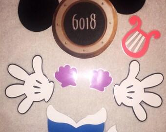 Mermaid minnie mouse laminated stateroom disney cruise door magnet