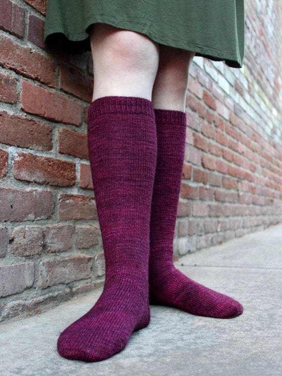 Simple Knitted Knee High Socks A Knitting Pattern