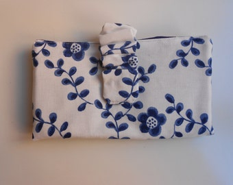 Flower fabric wallet/Cotton fabric wallet/Handmade/Fabric wallet