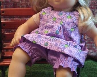 Bitty Baby 2 piece Purple Sunsuit