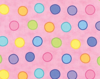 Dot Dot Dash Pink Bubble Dot From Moda by the yard