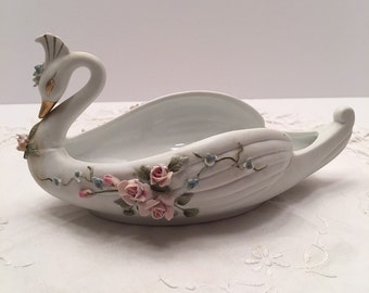 Vintage Lefton Swan ~ Lefton China ~ Hand Painted