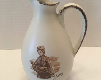 Vintage Pitcher ~ Berry ~ Made in France