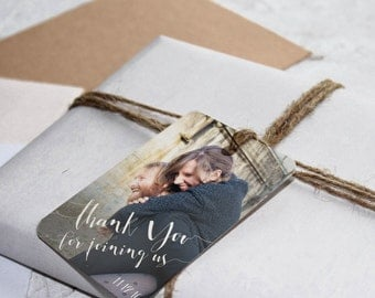 25 Wedding Favor Tag, Personalized Thank You Tag, Gift Tag, Thank You for Celebrating With Us Tag
