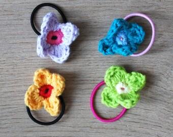 Set 4 ponytail flower