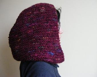 Knit Hood Scarf, Hooded Cowl, Women Scarf, Knitted Hood