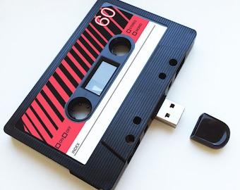 4GB/8GB/16GB USB Mix tape - Retro- Personalised - Novel Gift, Birthday, 80s, 90s, Wedding Present- Boyfriend, Girlfriend, Playlist